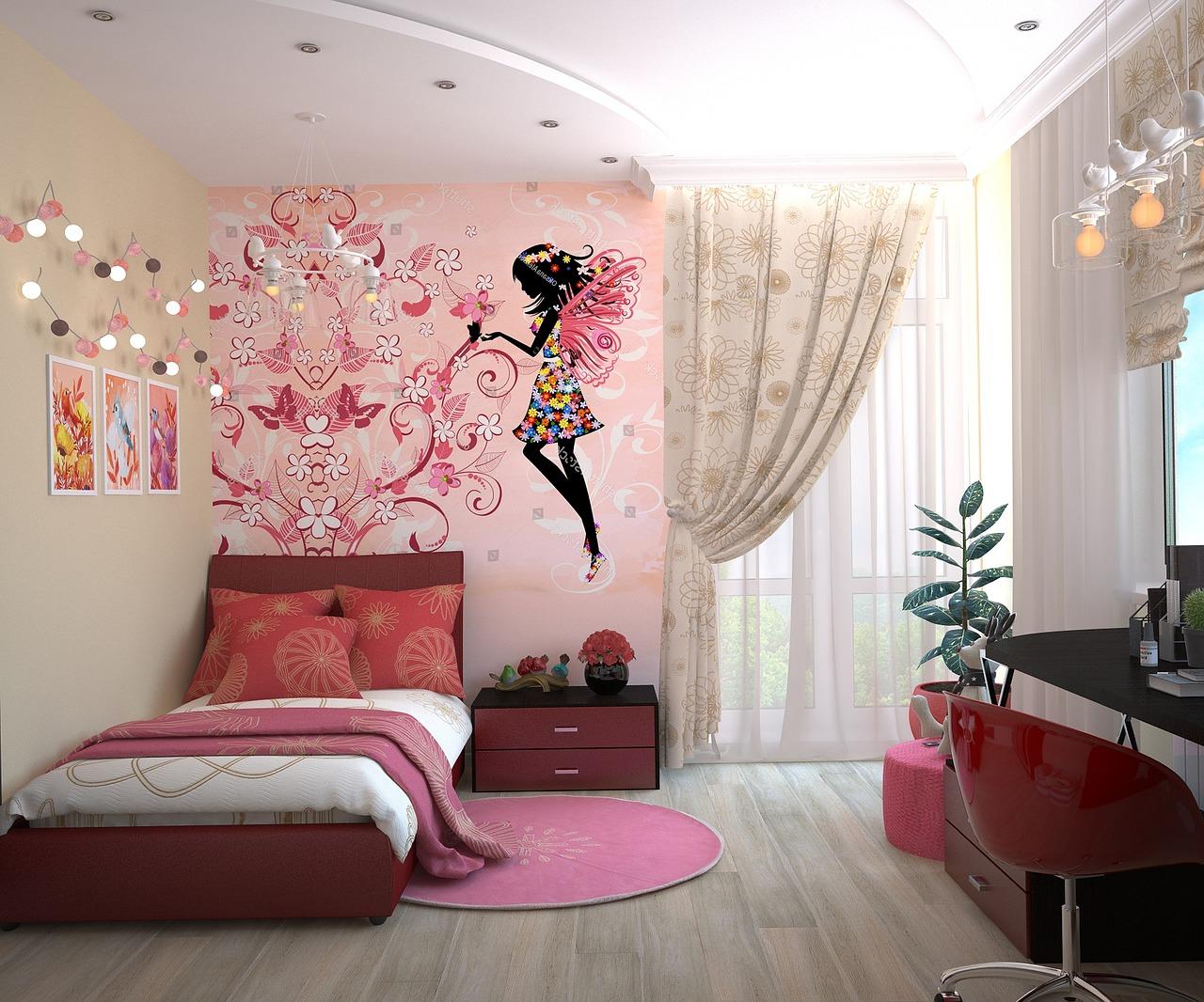 Quel papier peint pour la déco d'une chambre de petite fille ?